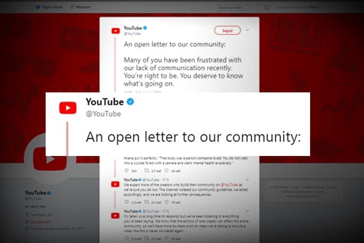 carta aberta do youtube sobre vídeo de Logan Paul