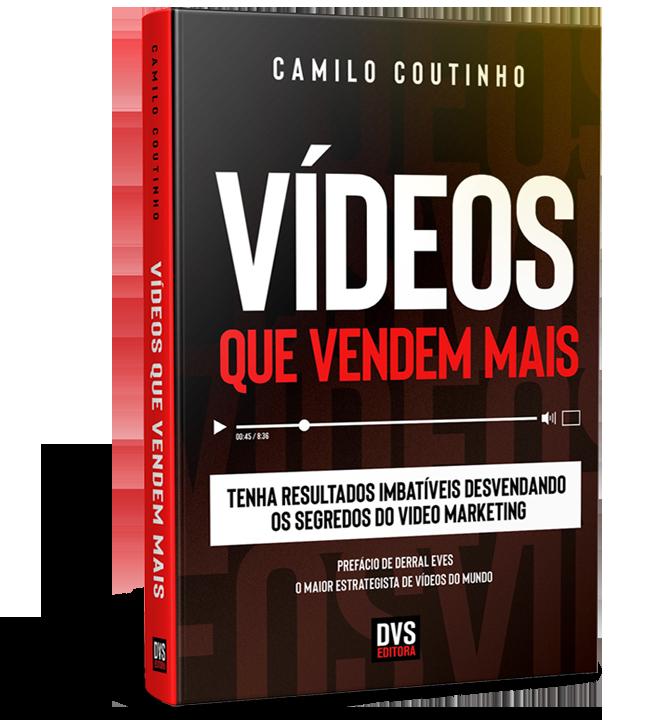 Livro vídeos que vendem mais em pé com um uma sombra